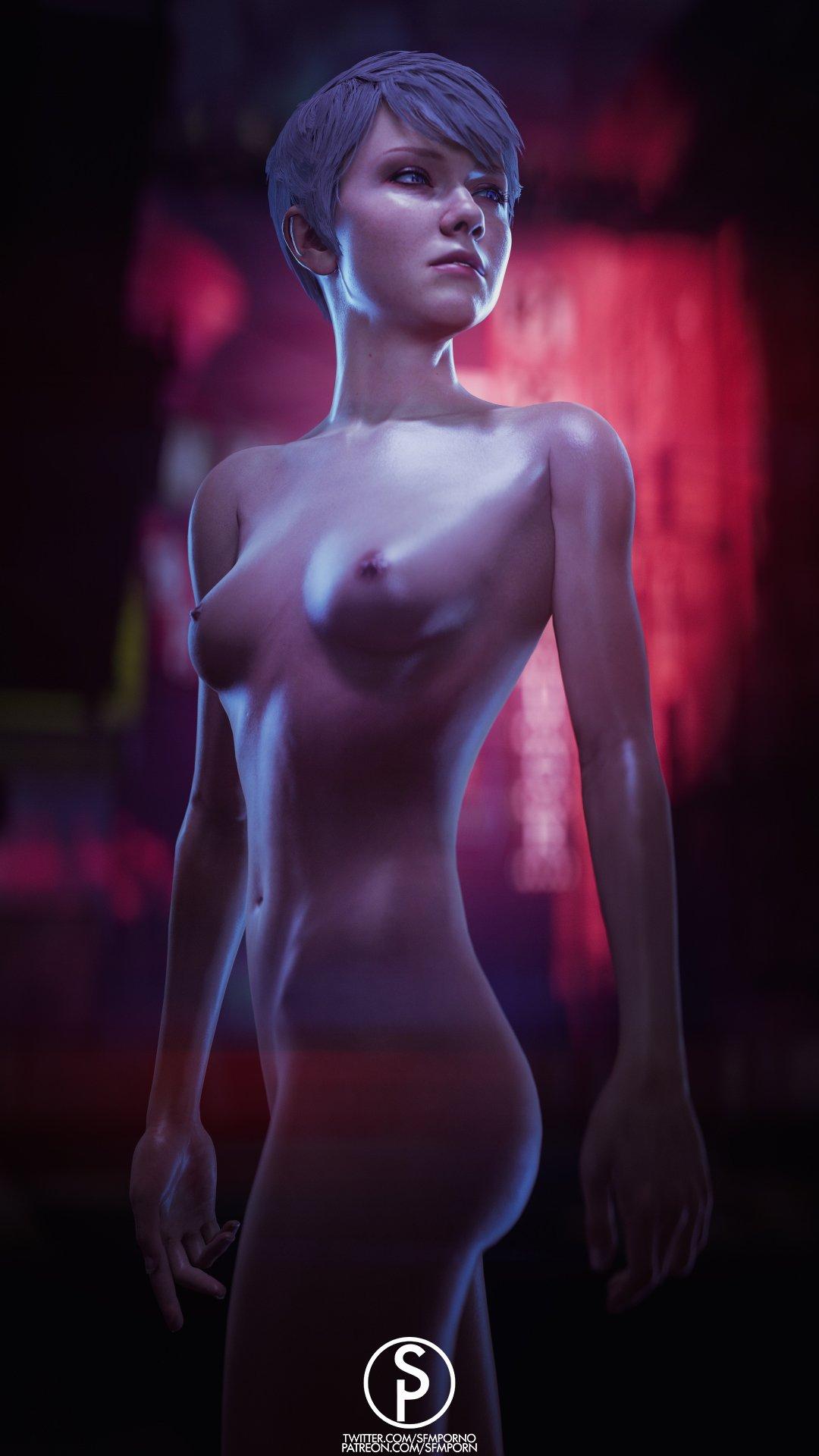naked human detroit become kara Yu gi oh mai valentine