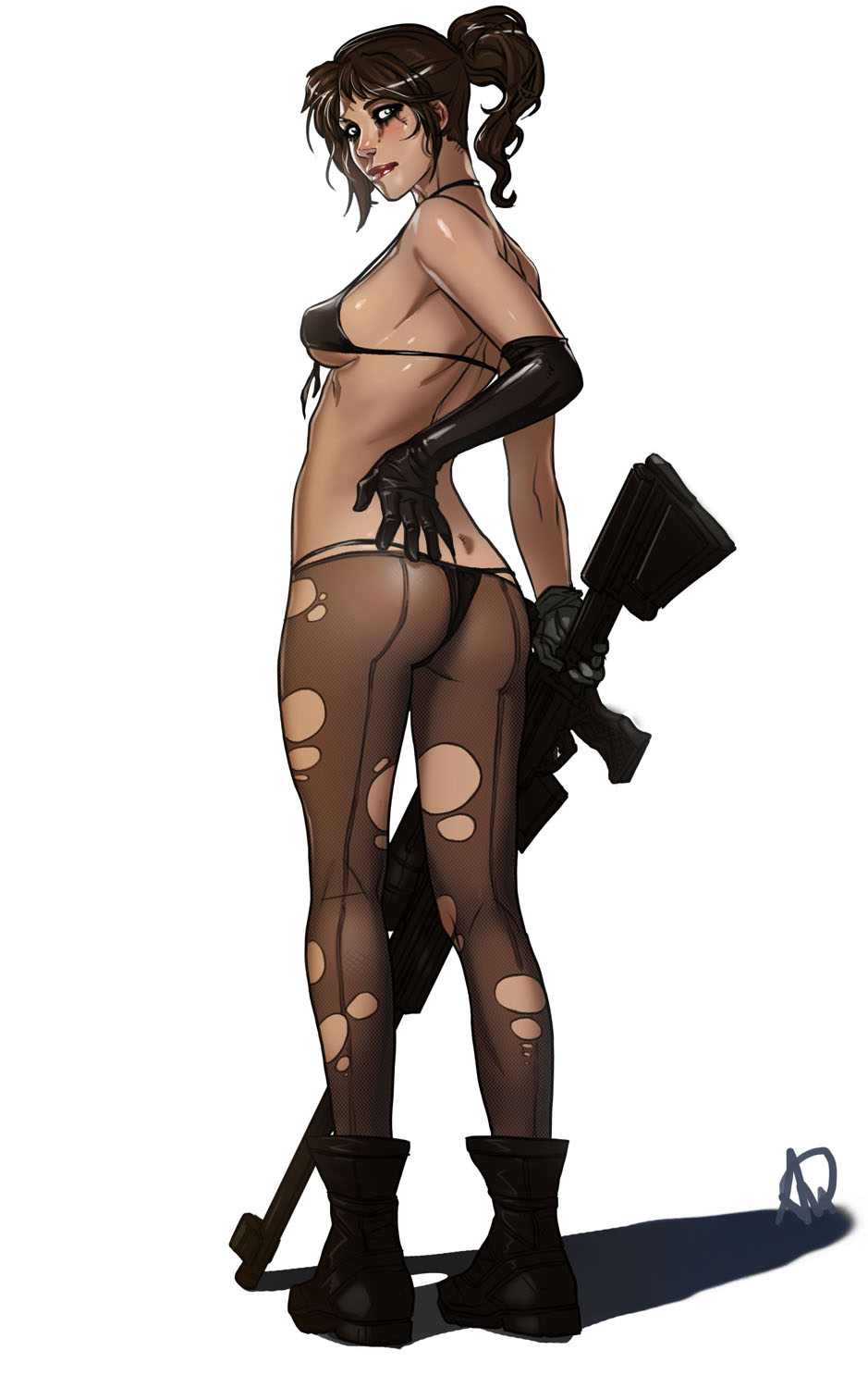 sniper wolf metal hentai gear Cum on and in pussy