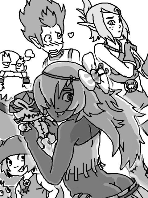 yugo kiss and wakfu amalia In another world with my cell phone