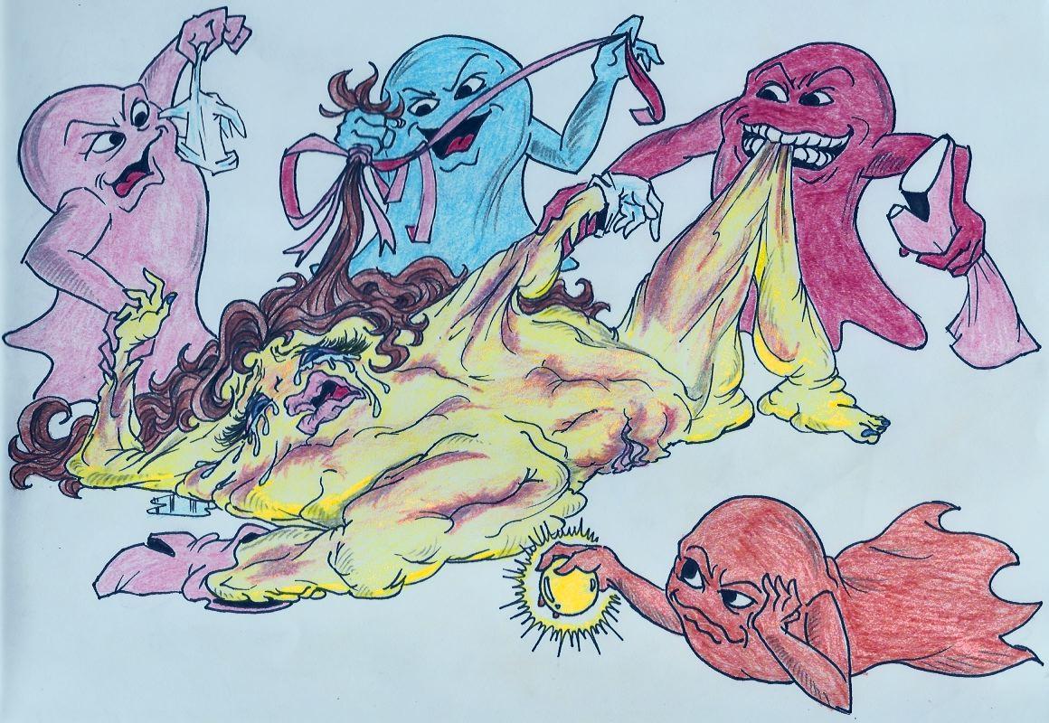 pac-man ghosts minus8 by animation Yuragi-sou no yuuna-san yaya
