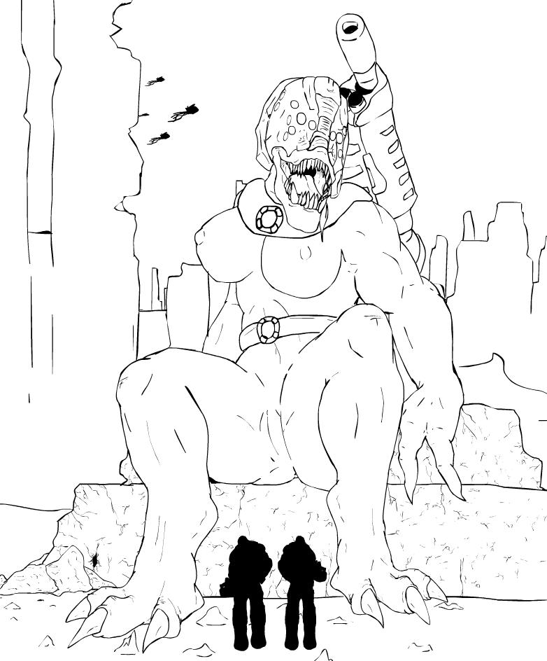 chainsaw gif gears of war Monster musume no iru nichijou