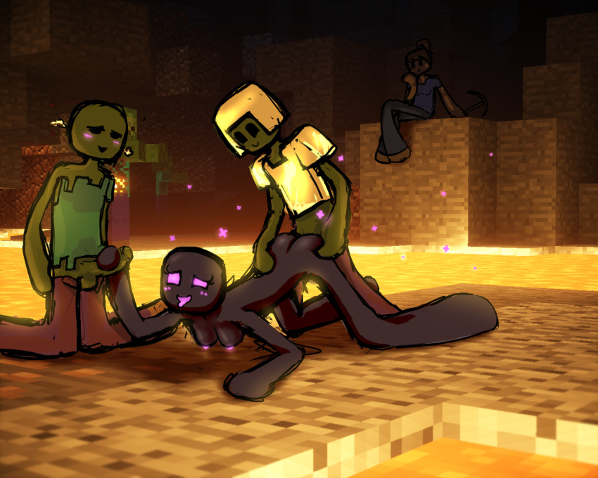 dragon vs ender steve minecraft Bloodstained ritual of the night gebel