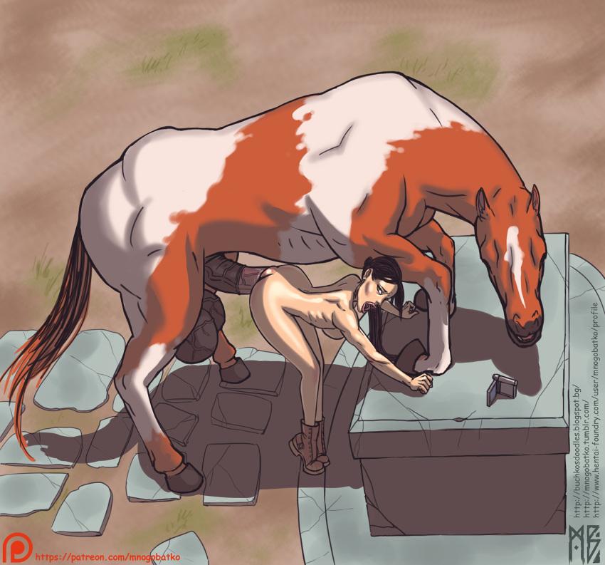and lara horse croft a Leone akame ga kill nude